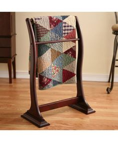 Transitional Mahogany Blanket/ Quilt Rack (for living room)