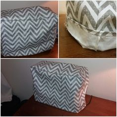 Made a Gray Chevron patterned cover for my sewing machine! First project!