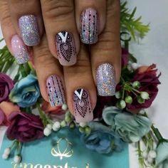 Wow Nails, Pretty Nails, Toe Nail Art, Acrylic Nails, Spring Nails, Summer Nails, Finger, Mandala Nails, Glitter Bomb