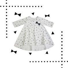 Organic Cotton dress with tiny bows! Cotton Dresses, Organic Cotton, Girls Dresses, Lovers, Bows, Dresses Of Girls, Arches, Bowties, Bow