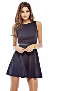 All Around Zipper Waist Dress