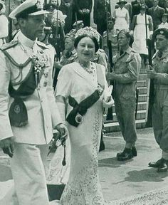 King George VI and Queen Elizabeth the Queen Mother.