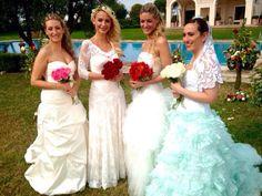 L'abito verde in organza ha partecipato al programma 4 matrimoni in Italia ed ha vinto