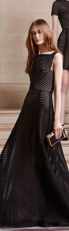 Elie Saab Pre-Fall 2014. I like this simple striped dress. Very subtle and low-key, yet anyone who wears it would still look eye-catching.