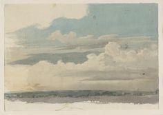 Cornelius Varley 'Study of a Tree. Landscape Art, Landscape Paintings, Gerhard Richter, Cornelius, Sky And Clouds, Illustration Sketches, Watercolor Techniques, Autumn Trees, Art Sketchbook