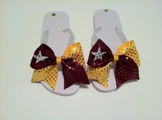 cheer bow flip flops by mrs.p.of.course