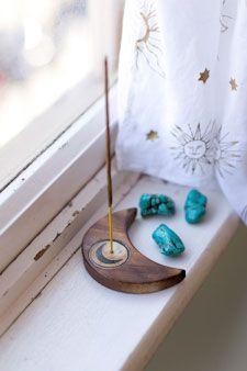 Set of 5 Wooden Incense Holders Ibiza Stil, Diy Incense Holder, Ceramic Incense Holder, Insence Holder, Smudge Sticks, Incense Burner, Bohemian Decor, Decoration, Diy And Crafts