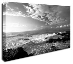 Simply Canvas have a variety of seascape canvas prints. Original wall art from Wall Prints, Canvas Art Prints, Canvas Wall Art, Black And White Canvas, Ocean, Clouds, Photography, Outdoor, Brown