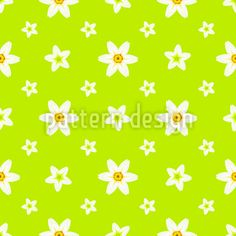 Daffodil Heaven Vector Ornament by Tatiana Pastushkova at patterndesigns.com Vector Pattern, Pattern Design, Spring Blossom, Daffodils, Surface Design, Your Design, Heaven, Ornaments, Patterns