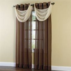 Crushed Voile Grommet Panel & Valance | Sheer Curtains | Brylanehome
