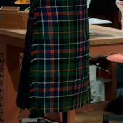 Garment of the week in week 4 was Neil's stunning kilt! Pleat perfection