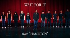 """Such an inspiring rendition of """"Wait for It"""" from Hamilton. So worth being here and so worth worthing."""