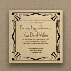 All That Jazz - Imperial Invitation - Gold Shimmer A jazzy frame showcases your wording on this gold shimmer invitation.