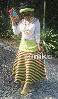 We have the latest modern Xhosa dresses online on Sunika. Discover Top Xhosa dresses designers in South Africa for your next outstanding Xhosa Wedding dress. Long African Dresses, Latest African Fashion Dresses, African Print Fashion, Women's Fashion Dresses, African Clothes, Xhosa Attire, African Attire, African Wear, Doek Styles