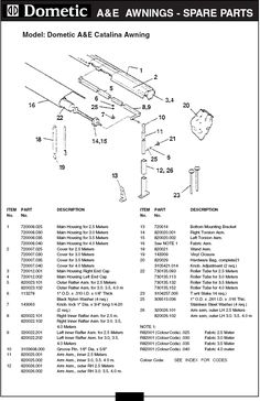 a u0026e awning replacement parts