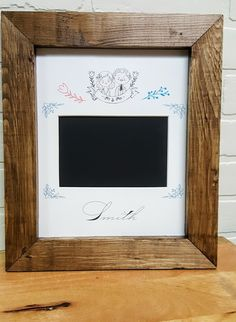 Personalized Mr. & Mrs. Photo Mat. 8x10'' Mat and Frame for 4x6'' Photos