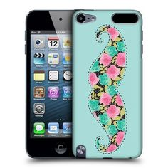 Head Case Blue Floral Moustache Design Back Case For Apple iPod Touch 5G 5th Gen by Ecell, http://www.amazon.co.uk/dp/B00DJM4R2S/ref=cm_sw_r_pi_dp_ddb2sb1B08W6V