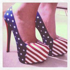 Sapato da bandeira dos Estados Unidos