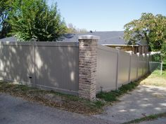 Darker colors are available in Vinyl Privacy Fencing from Future Outdoors.  Call for a free estimate. 972-576-1600. Dallas, Midlothian, Rockwall, Ennis, Grand Prairie, Plano.  All of north TEXAS