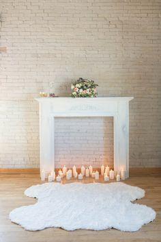 Fireplace Backdrop | Bridal Boudoir Shoot | Ira & Lucy | Laken Fulton Photography | Bridal Musings Wedding Blog