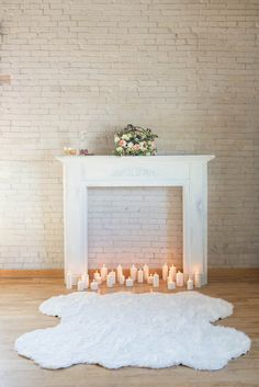 Fireplace Backdrop | Bridal Boudoir Shoot | Ira & Lucy | Laken Fulton Photography | Bridal Musings Wedding Blog