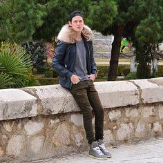 Look du jour #ootd #menslook #modamasculina #zara #fur #balmain #ysl #saintlaurent #slp #hightops #valencia #streetstyle