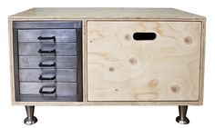 Upcycled Polished Metal and Ply Cabinet from The Old Cinema http://www.theoldcinema.co.uk/