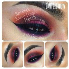 """An #immaculate look by ✨⭐@Mac_Daddyy⭐✨ Love his color blends! LASHES:: #FlutterLashes in """"CHARLIE"""" EYES:: @MACcosmetics #redbrick , #brownscript, #sketch and @Sugarpill Cosmetics #2am EYELINER:: #inglot num. 77 ✨Visit us at www.FlutterLashes.com✨"""