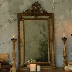 One of a Kind Antique Mirror Regency Gold #laylagrayce Cottage Furniture, Luxury Furniture, Mirror Mirror, Mirrors, Stylish Home Decor, Shabby Chic Style, Windows And Doors, Decoration, Home Furnishings