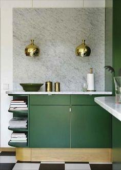 emerald green kitchen cupboards