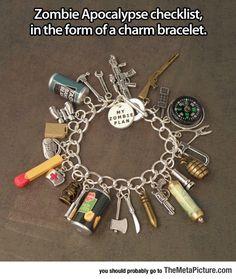 Zombie Apocalypse Checklist Bracelet