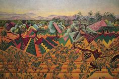 Vines and Olive Tree - Tarragona, by Juan Miro