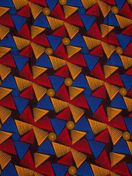 Wax réel en coton 6 yards au motif moulins à vent colorés rw146216