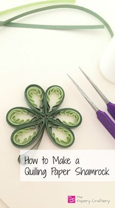 Making a Quilling Paper Shamrock with a quilling comb
