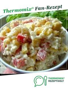 Curry-Reissalat mit Mais und Paprika von Werpcarolin. Ein Thermomix ® Rezept aus der Kategorie Vorspeisen/Salate auf www.rezeptwelt.de, der Thermomix ® Community.