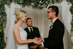 Sweet tearful wedding ceremony moment captured by Emily Magers