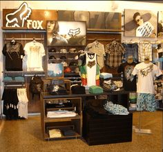 wall displays for retail | shoe display wth guitar sunglass display clothing display golf store