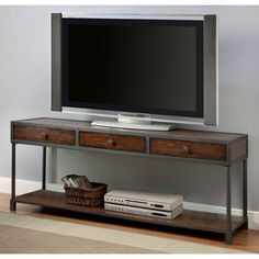 Furniture of America Thorne Antique Oak Industrial 60-inch TV Stand - Overstock™ Shopping - Great Deals on Furniture of America Entertainment Centers