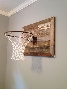 Basketball goal : Courtesy of Joanna Gaines Magnolia Homes. Fun for a boys room - Rooms Inn The House Wood Bedroom, Kids Bedroom, Bedroom Ideas, Room Kids, Kids Rooms, Boys Playroom Ideas, Boys Room Paint Ideas, Older Boys Bedrooms, Teen Playroom