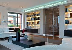 Light smart solution by Maurizio Narducci over the bookcase