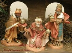 "FONTANINI DEPOSE ITALY 5"" KINGS MELCHIOR GASPAR BALTHAZAR NATIVITY FIGURES MIB #Fontanini"