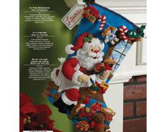 Nórdicos Santa Bucilla sentía media de la Navidad