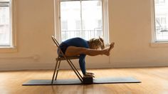 Play with Arm Balancing in this Tortoise Pose-to-Firefly Transition with a Chair. Using a chair as a launch pad to toggle between Kurmasana and Tittibhasana is a great way to build mobility and challenge your balance. Ready to give it a try?