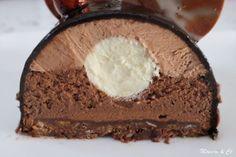 Bûche trois chocolats et croustillant praliné | Mamou & Co Box Cake Recipes, Healthy Cake Recipes, Sheet Cake Recipes, Homemade Cake Recipes, Sweet Recipes, Dessert Recipes, Chocolate Strawberry Cake, Strawberry Cake Recipes, Cake Chocolate