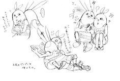 Russian Anime, Shadow Of The Colossus, Pixiv, Bunny, Fandoms, Manga, My Love, Drawings, Cute Bunny