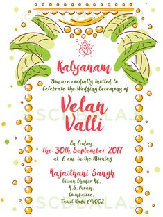 Sporg studio provides illustrated wedding card service with utmost south indian tamil wedding invitation design and illustration by scd balaji indian illustrator explore stopboris Image collections