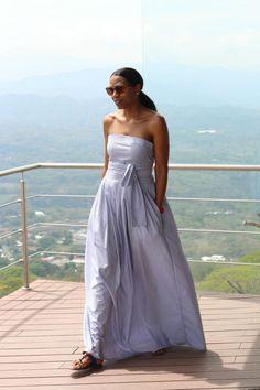 DIY strapless belt wrap dress