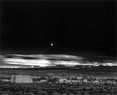 moonrise, hernandez, New Mexico  Ansel Adams