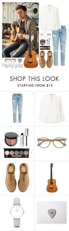 """""""playing guitar with Niall"""" by ap0dita ❤ liked on Polyvore featuring GRLFRND, Derek Lam, Bobbi Brown Cosmetics, EyeBuyDirect.com, Dr. Martens, CLUSE, outfit, Niall, horan and clothes"""
