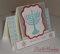 CardMonkey's Paper Jungle: Hanukkah Greetings, Day 2